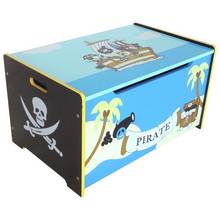 Kiddi Style Pirate Toy Box - Blue