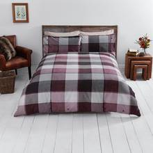 Sainsbury's Home Woodland Berry Brushed Bedding Set - King
