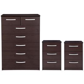 Argos Home Hallingford 2 Bedsides & 5+2 Drawer Chest Set