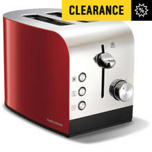 Morphy Richards Equip 2 Slice Stainless Steel Toaster - Red