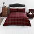 Sainsbury's Home Red Brushed Check Bedding Set - Single