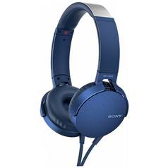 Sony MDR-XB550AP On-Ear Headphones - Blue