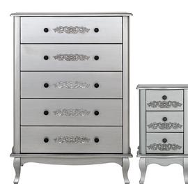 Argos Home Sophia Bedside Table & 5 Drawer Chest Set
