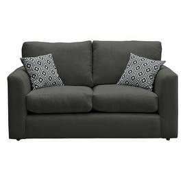 Argos Home Cora 2 Seater Fabric Sofa - Charcoal