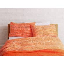 Habitat Noah Rectangular Pillowcase - Orange