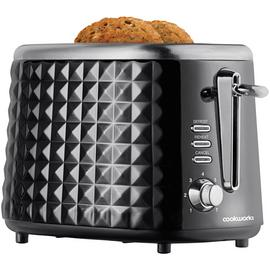 Cookworks Textured 2 Slice Toaster - Black