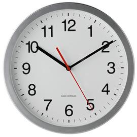 Argos Home Radio Controlled Wall Clock - Silver