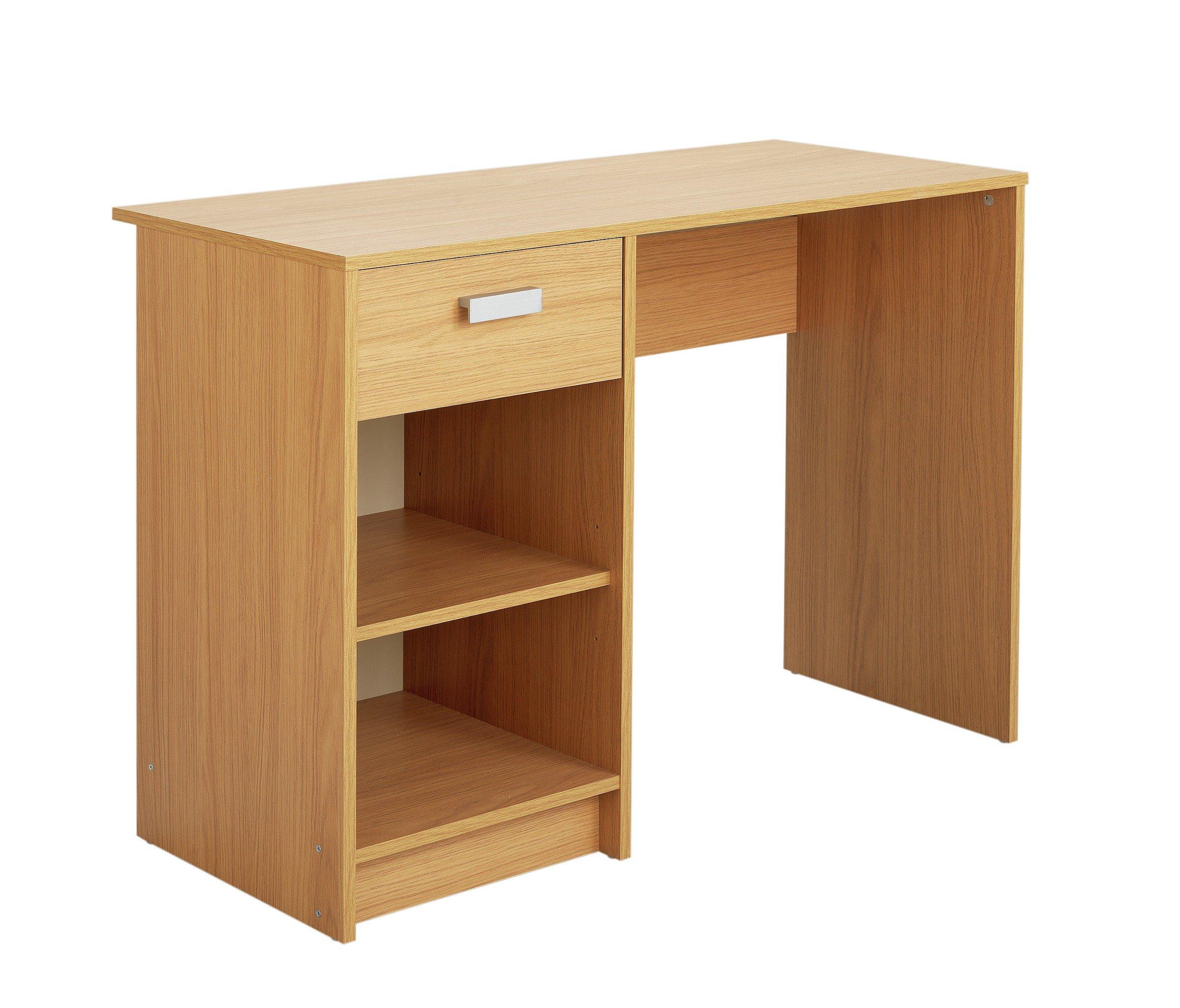 home chadwick desk oak effect