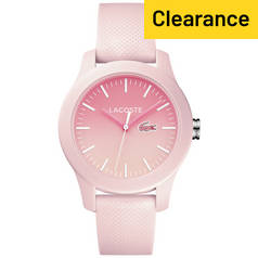 Lacoste Ladies' 12.12 Pink Silicone Strap Watch