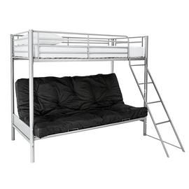 Argos Home Metal Bunk Bed Frame with Black Futon