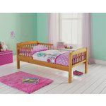 more details on HOME Antique Pine Toddler Bed Frame - Natural.