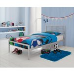 more details on HOME Drew Single Bed Frame - Grey.
