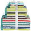 more details on HOME 6 Piece Striped Towel Bale - Multicoloured