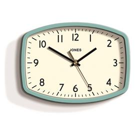 Jones Sketch Retro Wall Clock - Blue