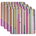 more details on Beau and Elliot Linear Set of 4 Square Placemats.