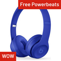 Beats by Dre Solo 3 Wireless On - Ear Headphones- Break Blue