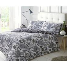 Pieridae Black and Grey Paisley Bedding Set - Kingsize