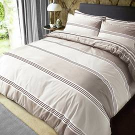 Pieridae Natural Banded Striped Bedding Set - Kingsize
