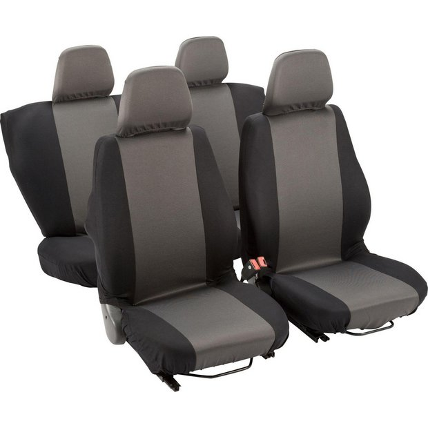 buy simple value full set of seat covers black at your online shop for car seat. Black Bedroom Furniture Sets. Home Design Ideas