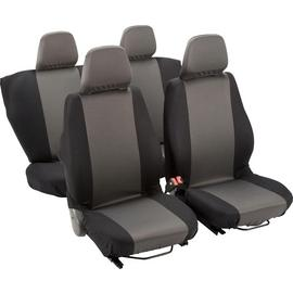Simple Value Full Set of Seat Covers - Black