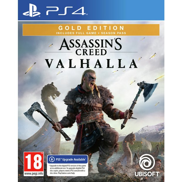 Buy Assassin S Creed Valhalla Gold Edition Ps4 Game Pre Order