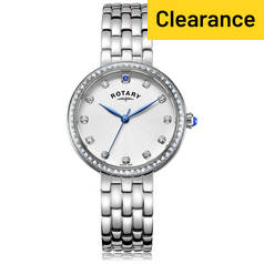 Rotary Ladies' Semi Precious Stone Set Stainless Steel Watch
