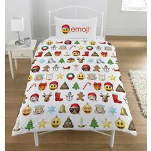 Emoji Christmas Duvet Cover Set - Single