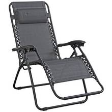 HOME Grey Reclining Sun Loungers - Set of 2