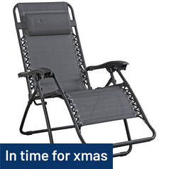 Argos Home Grey Reclining Sun Loungers - Set of 2