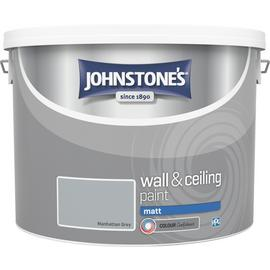 Johnstone's Wall & Ceiling Paint Matt 10L - Manhattan Grey