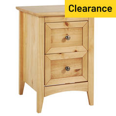 Argos Home Camborne 2 Drawer Bedside Chest - Oak Stain