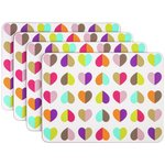 more details on Beau and Elliot Confetti Set of 4 Rectangular Placemats.
