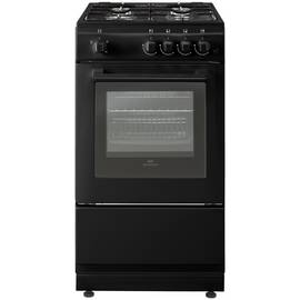 New World 50GSO 50cm Single Oven Gas Cooker - Black