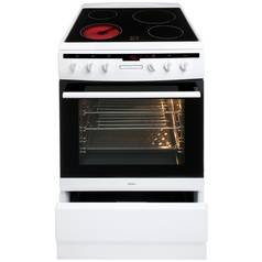 Amica 608CE2TAW Single Electric Cooker - White