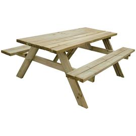 Forest Garden Retangular 8 Person Picnic Table