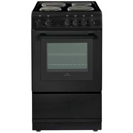 New World 50ES 50cm Single Oven Electric Cooker - Black