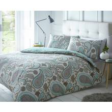 Pieridae Teal Paisley Bedding Set - Kingsize