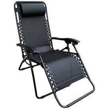 HOME 2 Pack of Garden Loungers - Black