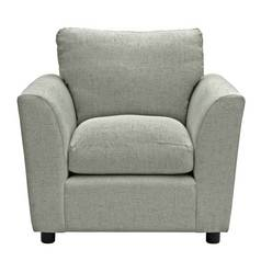 Argos Home Carter Fabric Chair - Light Grey