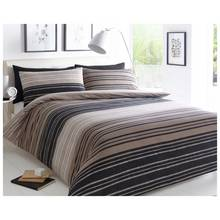 Pieridae Brown Textured Striped Bedding Set - Kingsize