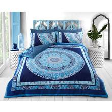 Pieridae Blue Paisley Mandala Bedding Set - Kingsize
