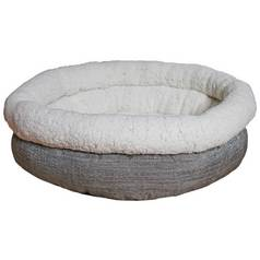Rosewood Deep Tweed Teddy Bear Round Pet Bed - Small