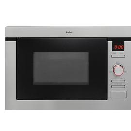 Amica AMM25BI 1000W Built-In Microwave - Stainless Steel