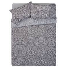 Argos Home Grey Lace Damask Bedding Set - Double