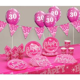 Pink Sparkle 30th Birthday Party Pack