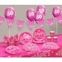 Pink Sparkle 50th Birthday Party Pack