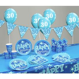 Blue Sparkle 30th Birthday Party Pack