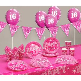 Pink Sparkle 16th Birthday Party Pack