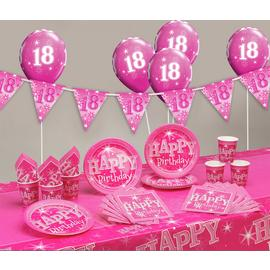 Pink Sparkle 18th Birthday Party Pack