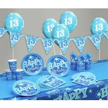 Blue Sparkle 13th Birthday Party Pack